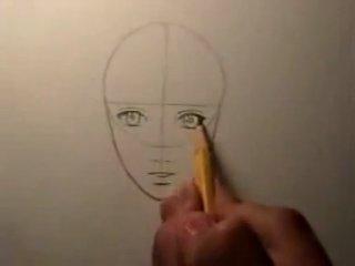 Как нарисовать лицо девшки.