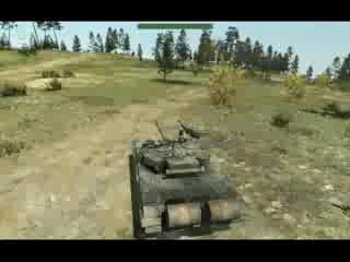 Моё вождение на танке Т-90 в игре ArmA 2