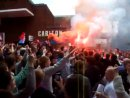 Palace Protest 31 May - Holmesdale Fanatics arrive
