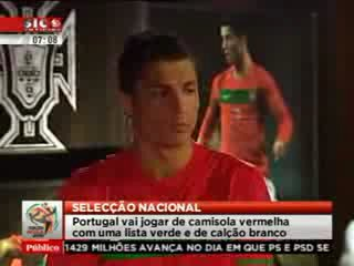 Cristiano Ronaldo Modelling the New Portugal Kit for World Cup 2010