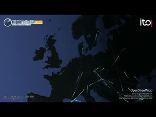 Движение самолетов во-время активности вулкана