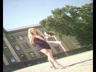 Подглядывание под юбку 3 (подружка невесты - фронтальный апскирт, вид спереди)
