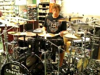 Thomas Lang live in rome italy at cherubini's meinl's drum impromptu 2010 june