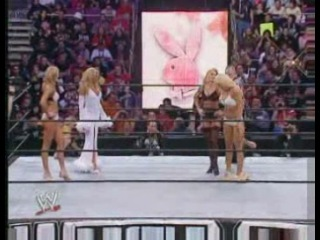 WWE Wrestlemania 20 - Torrie Wilson and Sable vs. Rey Stacy Keibler and Miss Jackie (Playboy Evening Gown match)