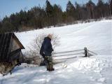 Лыжню!!!!!Уступите парню лыжню!!!! Скорей!!!!