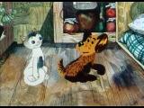 Як кошеня і песик мили підлогу (1977) [українські мультфільми]