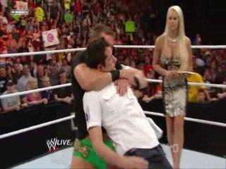WWE Monday Night Raw 04.10.2010 - Goldust reveals himself as Ted DiBiase Maryse's stalker