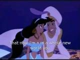 Алладин [Песня A Whole New World Караоке (английские слова)]