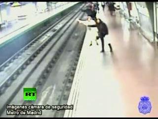 Случай падения в метро Мадрида