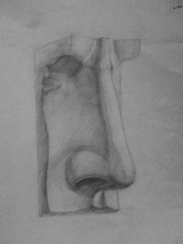 рисунок носа: