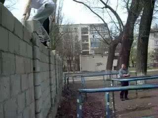 Паркур в Молдавии. г.Бельцы
