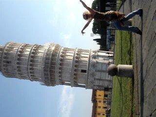 Анна Корбан - восточный танец возле Пизанской башни!