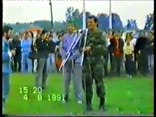 Djordje Bozovic Giska (pozdrav Bog cuva Srbiju) Srpska Garda