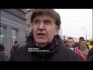 Боснийцы протестуют против ареста в Вене бывшего генерала Йована Дивьяка