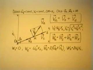 Теоретическая механика - лекция №20 (Сложное движение точки_Ускорение Кореолиса)