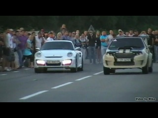 Porsche 911 vs ВАЗ 2108 STI