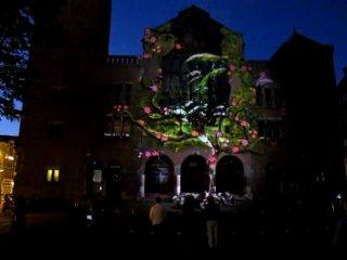 3D проекції в Амстердамі, реклама Самсунг