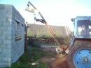 Самодельный кран к трактору.