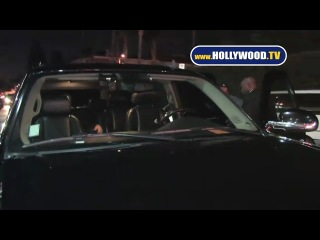 EXCLUSIVE- Trashed Kid Cudi Helped Back to His Car!!!