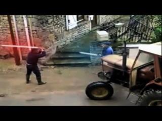 Драка алкашей на световых мечах (Star Wars)