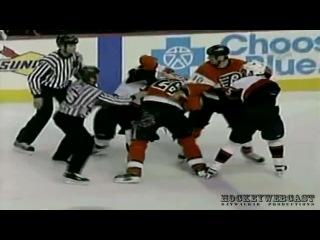 05-03-2004. Филадельфия - Оттава. Рекорд НХЛ по количеству штрафных минут