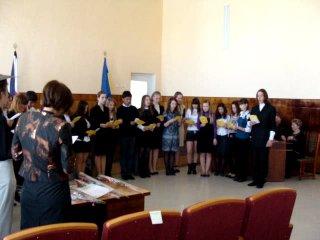 Студенческий гимн в исполнении слушателей курса ГУ
