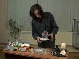 Ирина Штефан и её урок изготовления фарфоровой куклы для Чёрной речки (гипсовая форма для отливки)