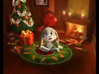Зайчик Шнуфель поздравляет всех с Новым годом и Рождеством!!!