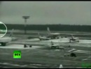 CCTV video of Tupolev 154 deadly crash landing in Moscow