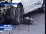 В Приморском районе столкнувшиеся машины сбили 4 пешеходов - Новости - СПбВодитель.flv