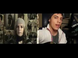 Парень и девушка спели дуэтом в Skype находясь в разных городах.