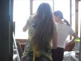 Стриптиз на балконе))))