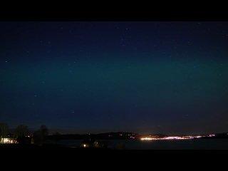 Северное сияние и звездный дождь. HD - ставьте качество 720