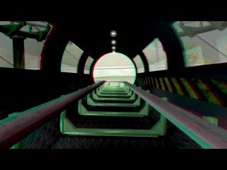 Американские горки 3D Анаглиф (смотреть в 3D очках)