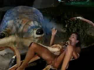 Порно с осминогом