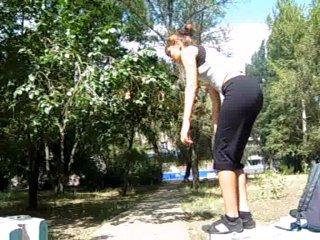 Первая девушка трейсер в Балаково