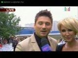 Сергей Лазарев и Лера Кудрявцева. Премия МУЗ-ТВ 2010.  Ковровая дорожка