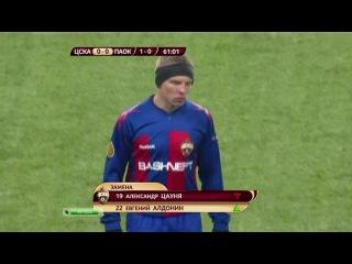 Травма Игоря Акинфеева (ЦСКА-ПАОК 1-1)