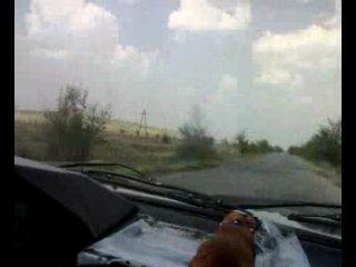 Москвич и Вадим за рулем