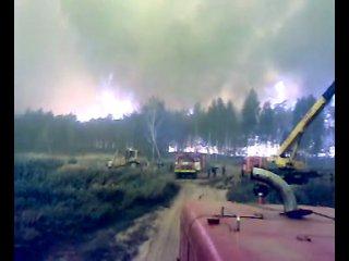 п.Рязановский, Егорьевский р-он, в лесу. Верховой пожар