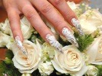 Свадебный модный маникюр осень-зима 2013-2014.