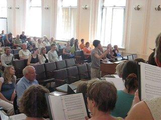 Репетиция хора из Дании 22 мая 2010 года