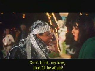 из индийского фильма - Время сумасшедших влюбленных  -  Шахрукх Кхан, Равина Тандон