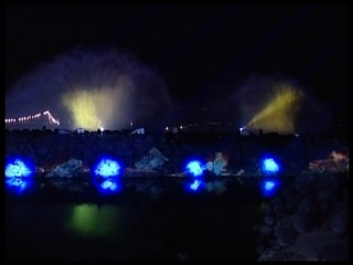 Уникальное лазерное шоу на берегу оз. Кинерет(Тивериадское). Израиль.