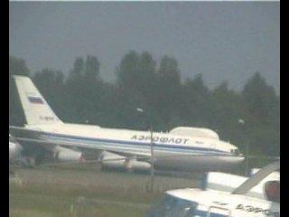 Чкаловский. Взлёт самолёта Ил-18
