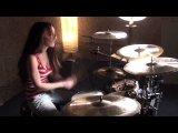As I Lay Dying - Through struggle (Девушка играет на барабанах) (hd 720, Клип, Видео, Рок, Метал, Рок н ролл, Dead metal, Hardco