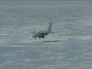 Посадки Ил-76 на лед в Антарктике