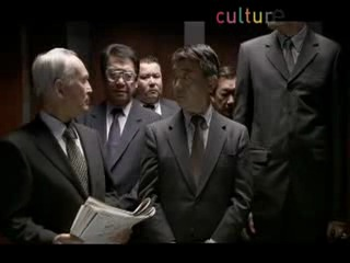 Japanese businessman farting in the elevator ?