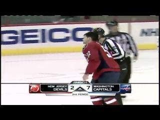 NHL Илья Ковальчук - Майк Грин (ДРАКА) 10-9-2010
