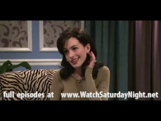 """""""saturday night live"""" the miley cyrus show  - anne hathaway[se.36 ep.07]"""